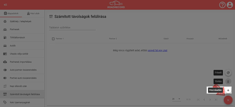 Számított távolságok felülírása a RoadRecord online útnyilvántartó programban 3